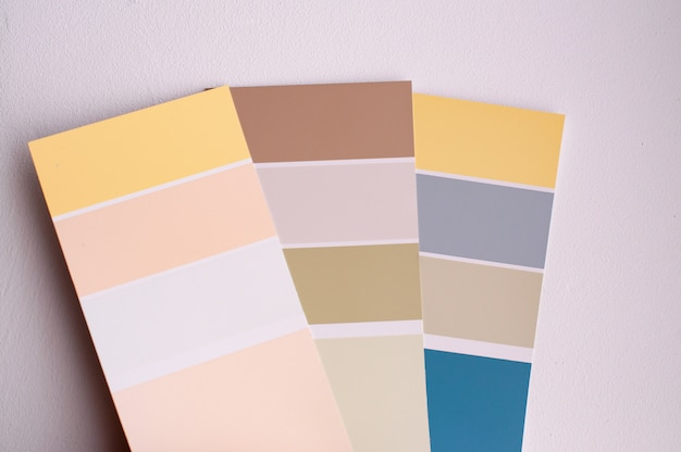 Color palette with various samples.