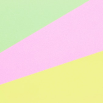 Color papers geometry flat composition background with pastel tones