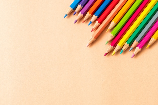 복사 공간 종이에 색연필
