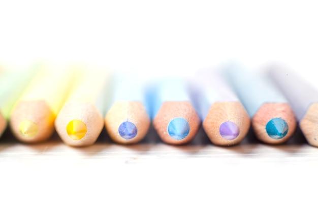 Color pencils close up