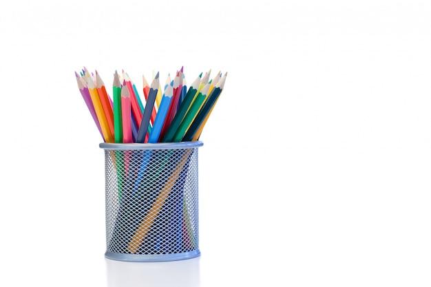 瓶の中の色鉛筆