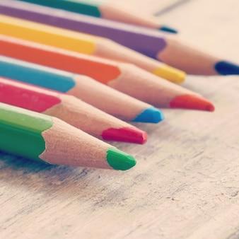 色鉛筆古いレトロヴィンテージスタイル