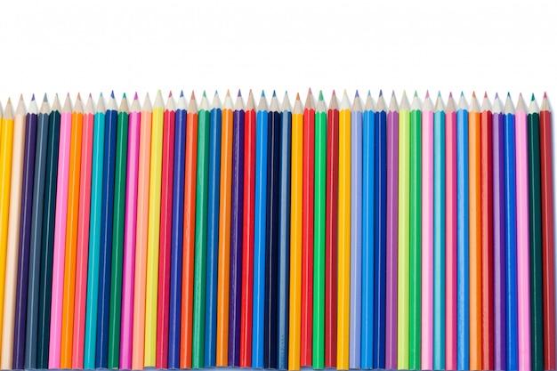 色鉛筆の垂直方向の整列