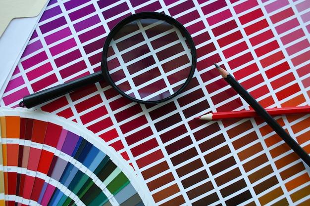 カラー印刷スキームの統計オフセット