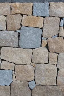 Color rock wall pattern.