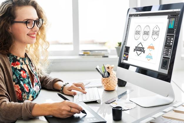 Цветовая гамма swatch стационарный дизайнер creative concept
