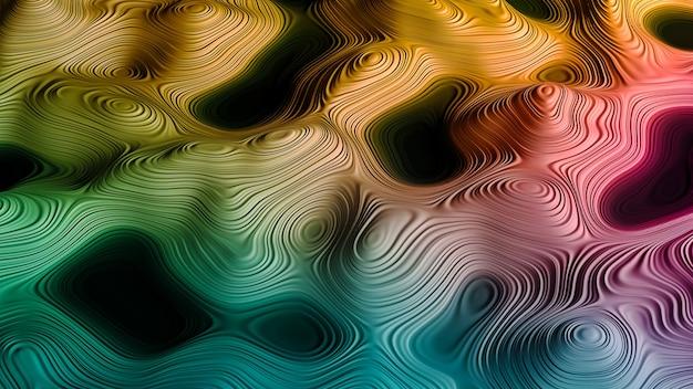 컬러 스플래시. 상상력, 창의력 및 예술 주제에 대한 프랙탈 페인트와 풍부한 질감의 배경 디자인. 3d 그림