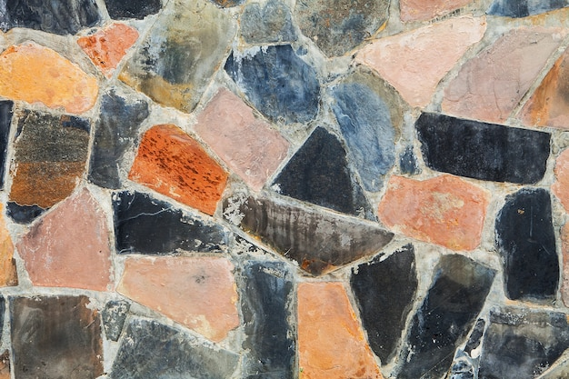 Color stone wall for background and texture