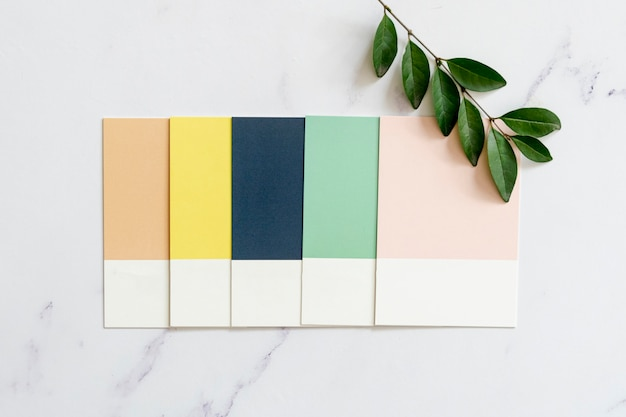 Color swatches on plain background
