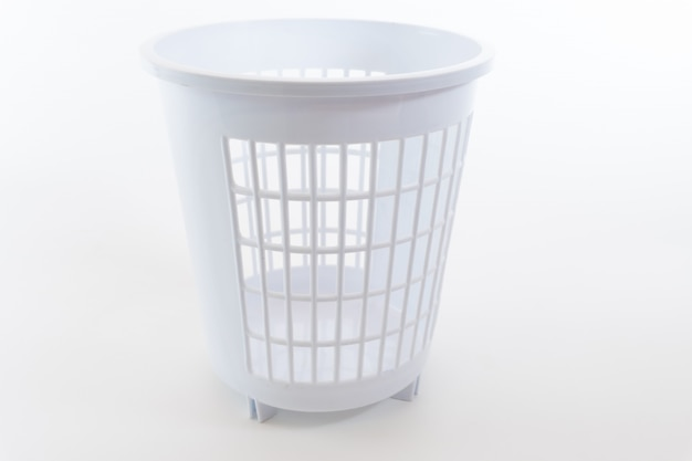 Color trash can isolated
