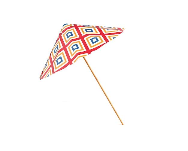 Цветной зонтик, изолированные на белом фоне 3d визуализации