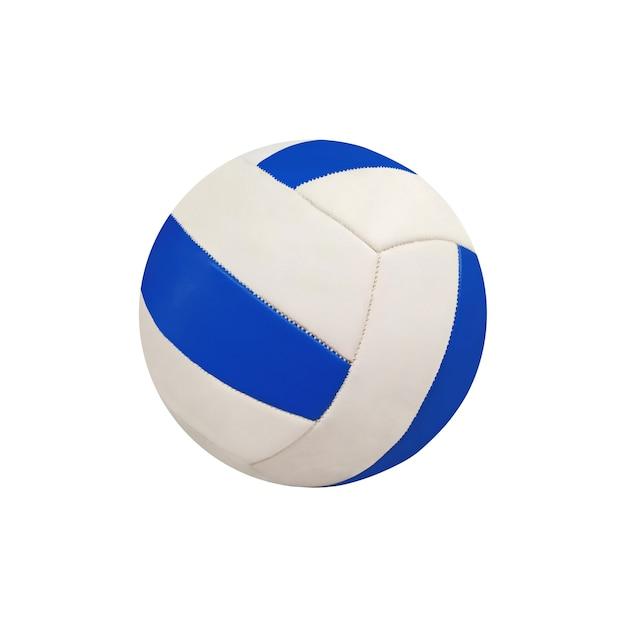 白い背景で隔離の色のバレーボールボール。スポーツ用品