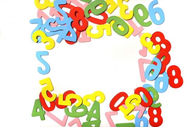 Color wooden number