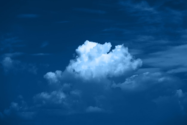 Color of the year 2020 classic blue. clouds in the sky