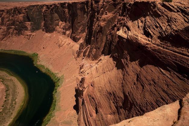 グランドキャニオンのコロラド川。グレンキャニオン国立保養地のキャニオン。