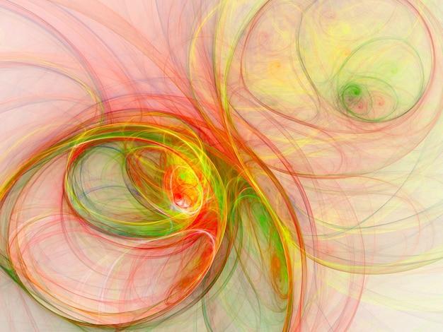 Цветные абстрактные круглые кривые и линии на белом фоне