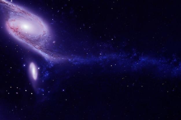 Цветная красивая галактика. элементы этого изображения были предоставлены наса. фото высокого качества