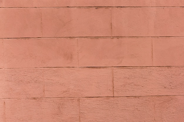 Colored brick wall with coarse appearance