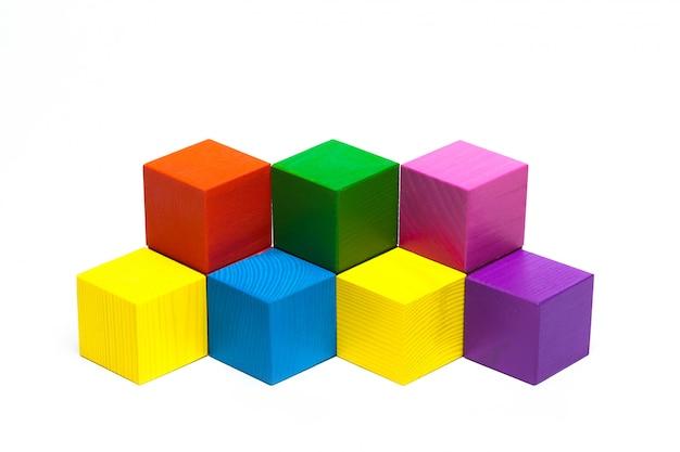 Colored children cubes