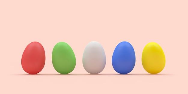 착 색된 부활절 달걀