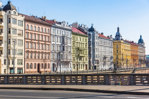 Colored houses in prague