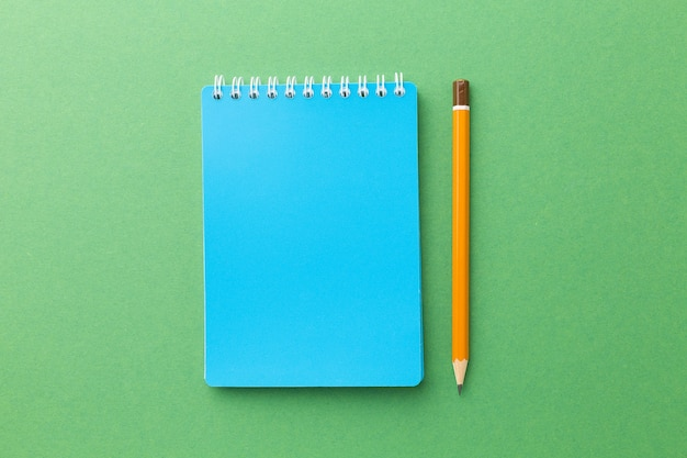 Colored items for school on a bright background. high quality photo
