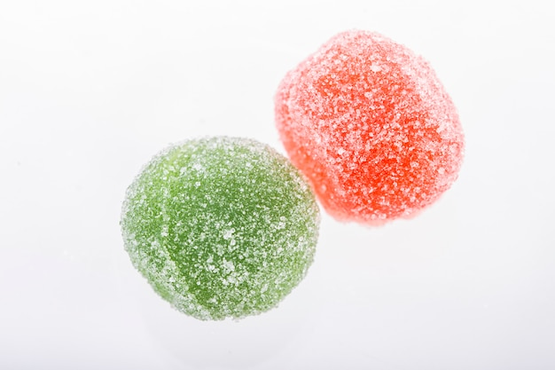 Colored marmalade in sugar