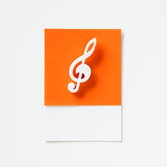 Colored musical note audio symbol