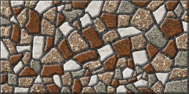 Colored natural granite texture. embossed tiles made of natural stone.