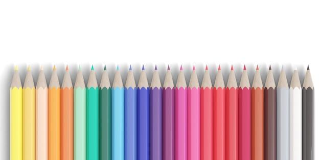 Цветные карандаши, изолированные на белом фоне.