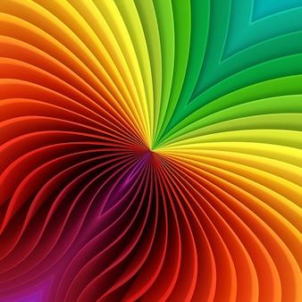 さまざまな色の着色されたプラスチックシート、虹の型紙