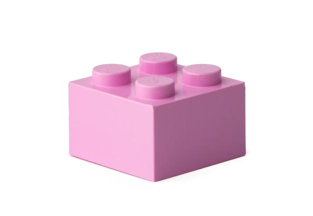 컬러 플라스틱 장난감 빌딩 블록 흰색 절연