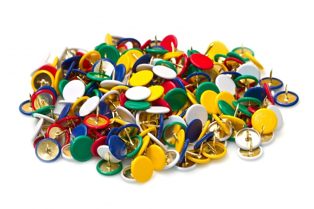 Colored pushpins
