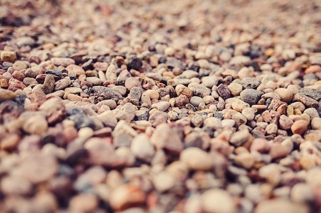 Colored stones in blur