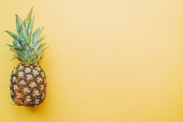 Colored surface with pineapple