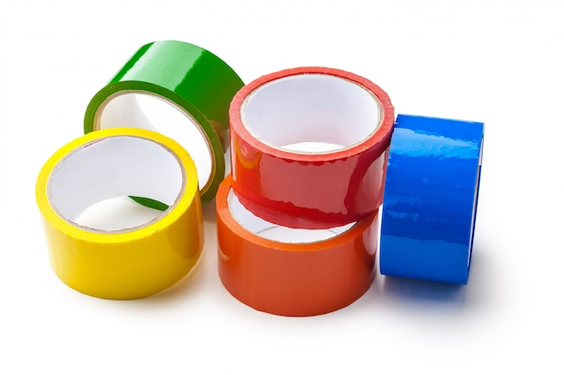 Colored tape in large rolls