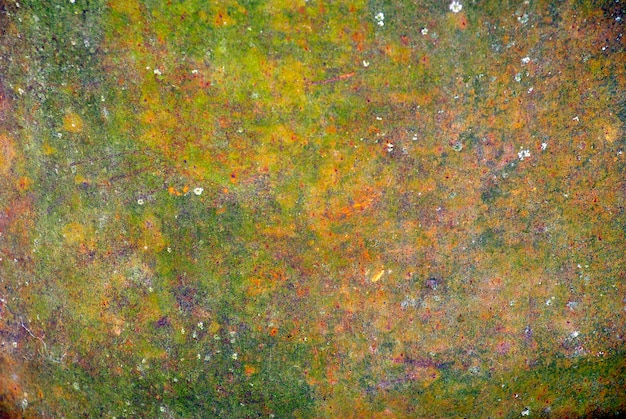A colored texture of rusted plate of metal