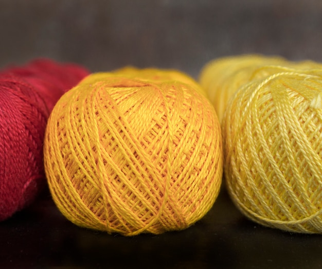 Colored threads for knitting