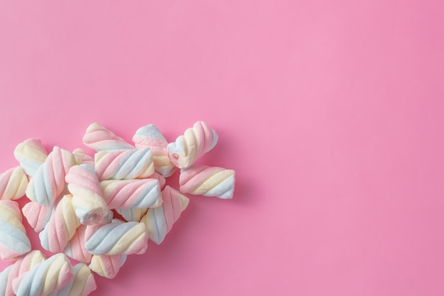 Colored tweested marshmallow