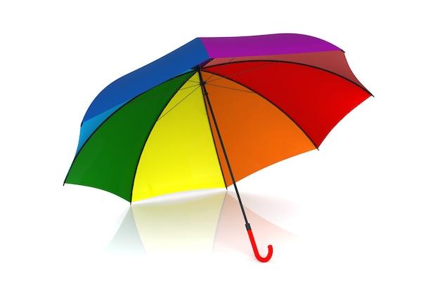 Цветной зонтик, изолированные на белом фоне