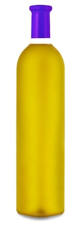 The colored wine bottle isolated