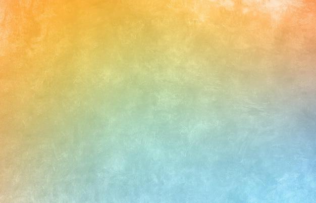 콘크리트 질감이 있는 컬러 노란색-파란색 그라데이션. 다채로운 멋진 배경