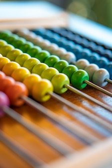 Colorful abacus for education
