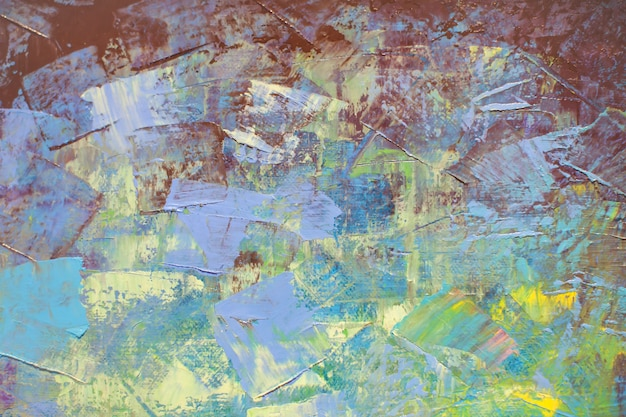 Colorful of abstract acrylic paint texture background on canvas.