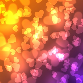 Colorful abstract background. magic light illustration background with sweet heart design.