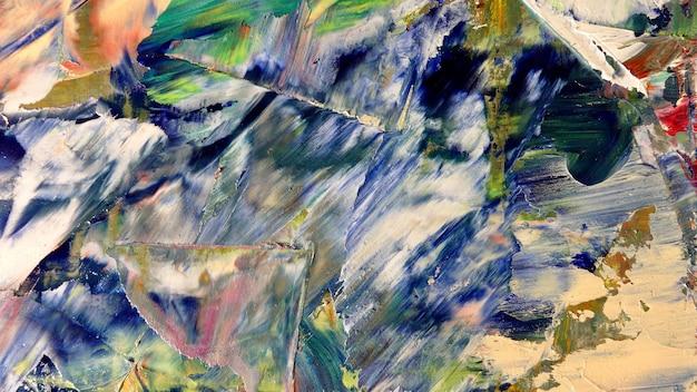 キャンバスにカラフルな抽象的な背景の油絵