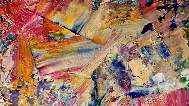 キャンバスにカラフルな抽象的な背景油絵