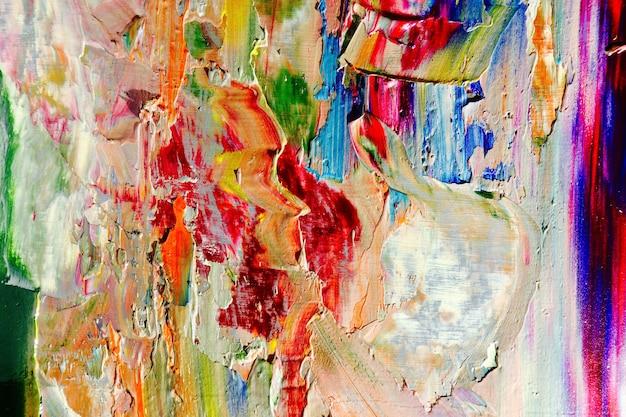 캔버스에 다채로운 추상적 인 배경 유화