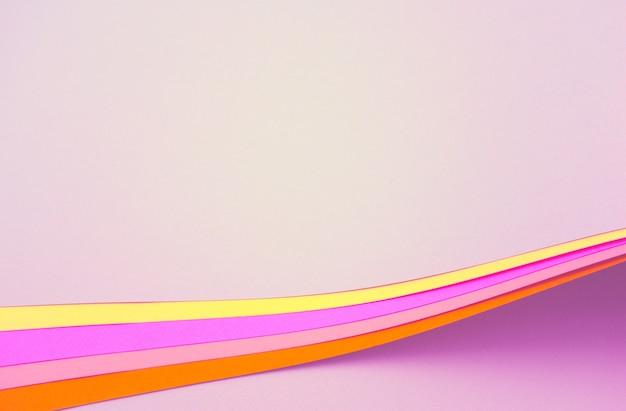 Красочный абстрактный фон пастельные розовые светло-фиолетовые и желтые сгоревшие сиены чистые бумаги