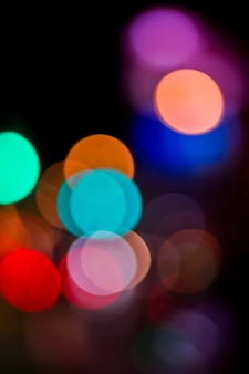 Colorful abstract bokeh background, city night light bokeh